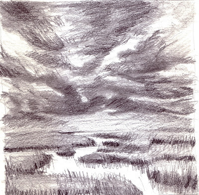 Marsh Labyrinth 3, Great Marsh, Cape Cod, drawing