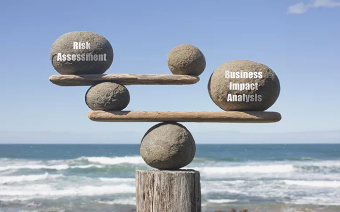 keeping balance between risk assessment and business impact analysis - Analecta Cyber Graphic