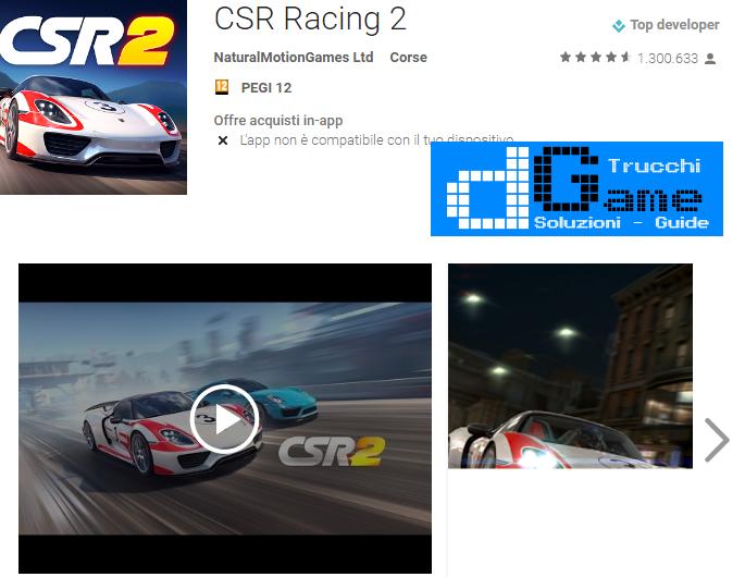 Trucchi CSR Racing 2 Mod Apk Android v1.9.0