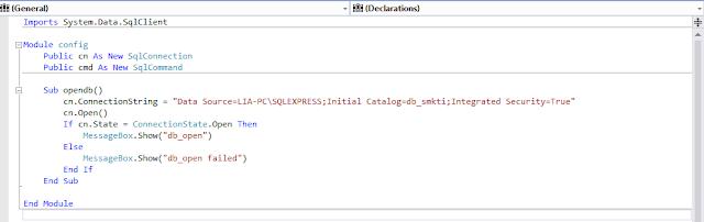 config2 - Membua Aplikasi Registrasi Siswa Gres Dengan Visual Studio 2012