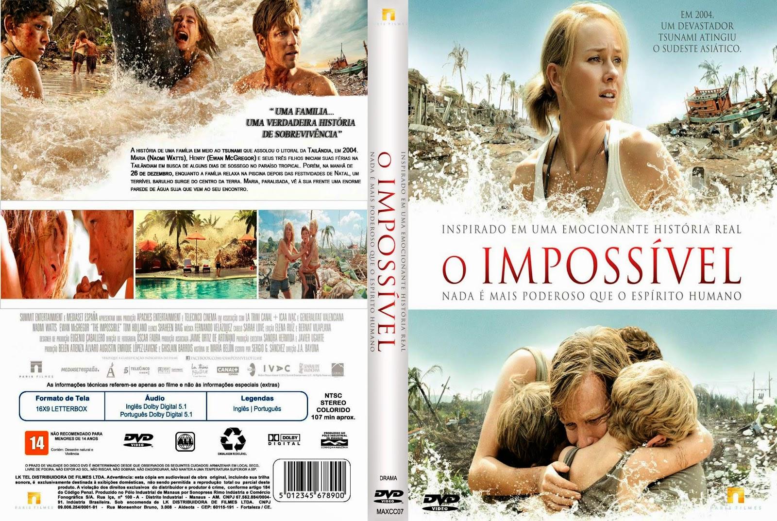 Baixar Filme O Impossível DVD Capa