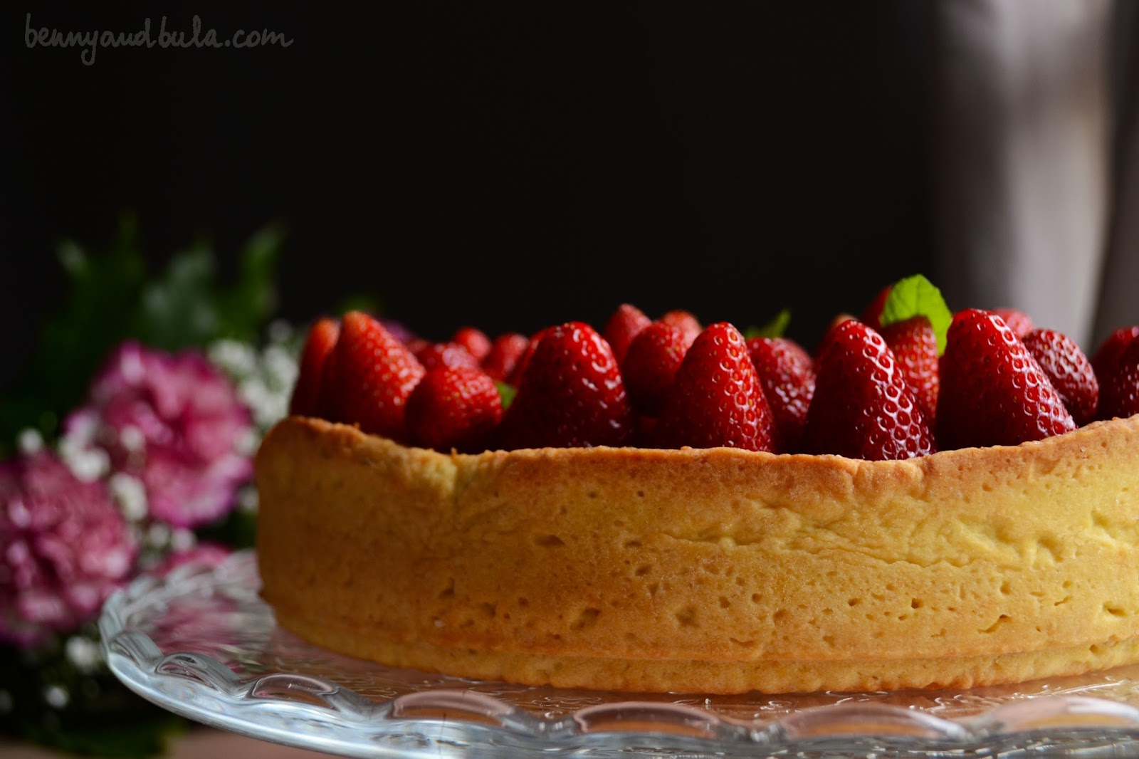 crostata fragole e crema ricetta/ strawberry cream tart recipe