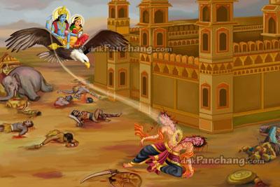 Lord Vishnu; Narak Chaturdarshi ;Choti Diwali Narak Chaturdarshi ;Choti Diwali