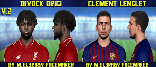 PES 2017 Faces Divock Origi v2 & Clement Lenglet