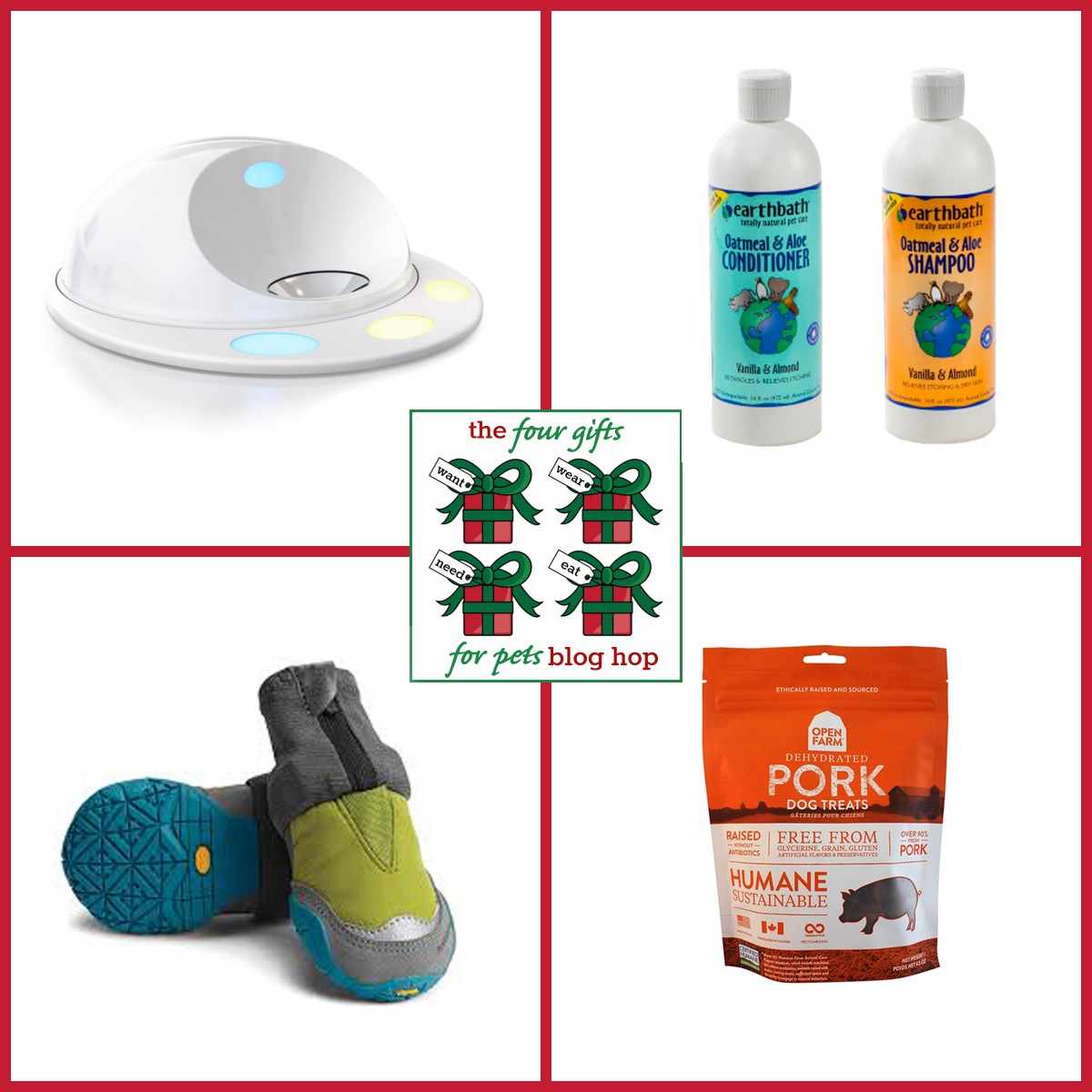 Ruby's choices for must have items in the 4 Gifts for Pet Blog Hop and Giveaway