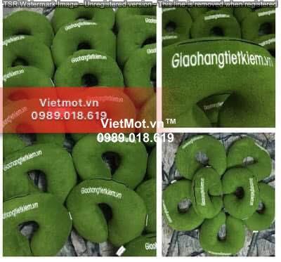 Chữ u thêu logo Giaohangtietkiem.vn