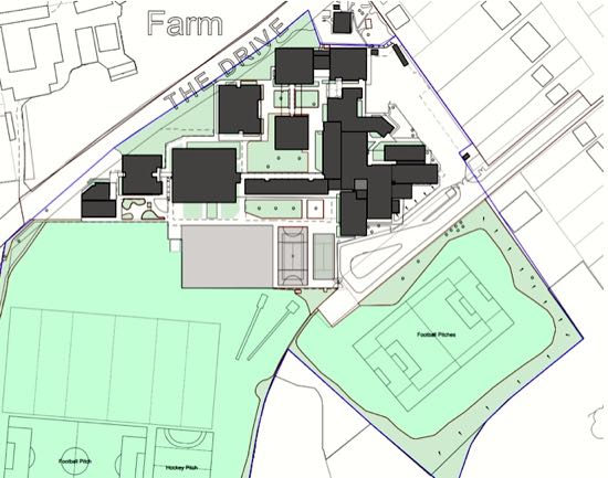 Current site plan Image courtesy of Chancellor's School