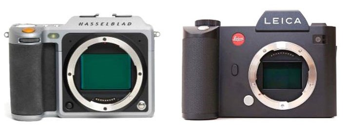 Hasselblad X1D и Leica SL