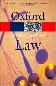oxford law dictionary pdf