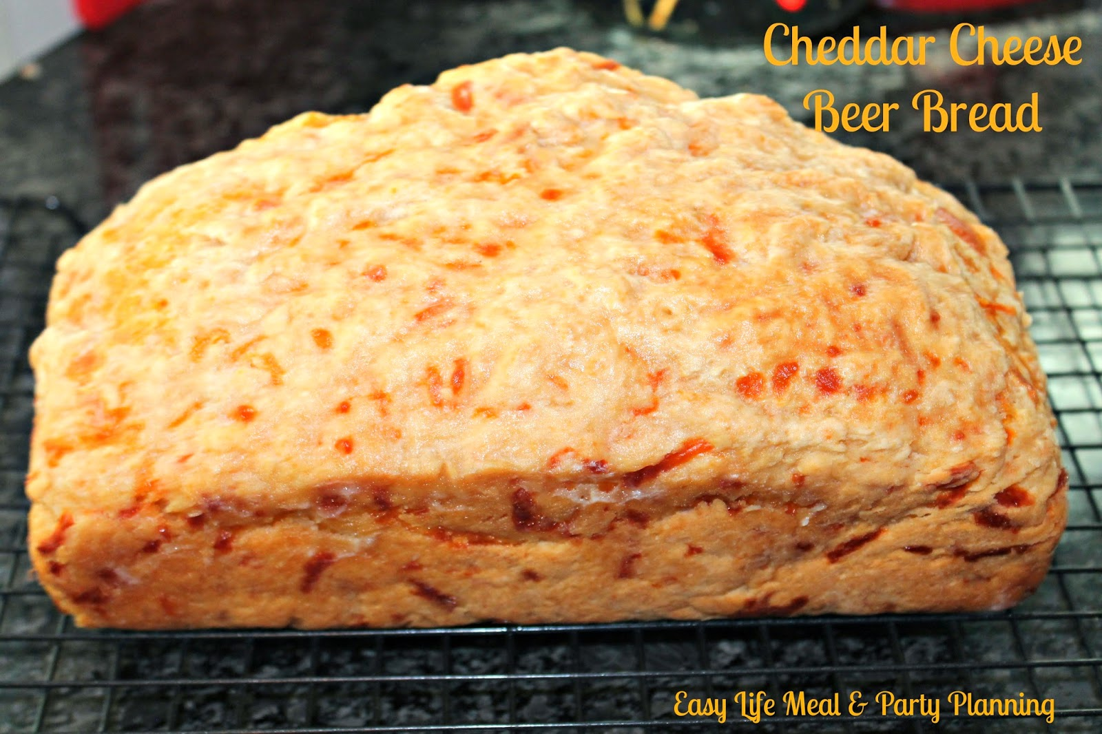 Ceddar Cheese Beer Bread - Easy Life Meal & Party Planning - This is the easiest bread in the world to make and it is so melt in your mouth good!