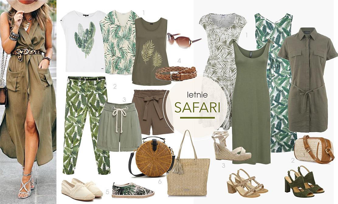 Styl safari - gotowe zestawy ubrań