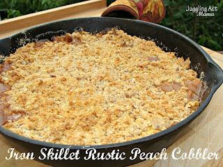 peach crisp recipe in cast iron skillet