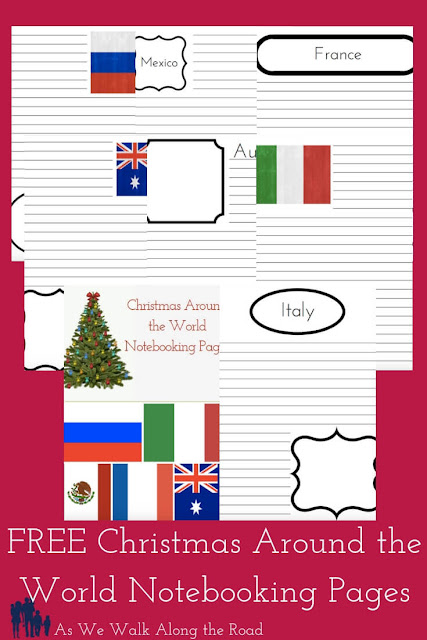 Christmas Around the World Notebooking pages