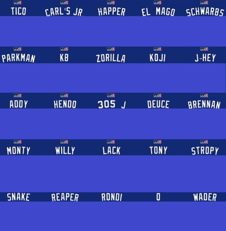 cd82387932e Here are the nicknames of the 25 Cubs participants without their jersey  numbers