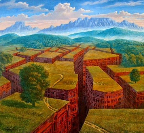 20-The-Underground-City-Marcin-Kołpanowicz-Painting-Architecture-in-Surreal-Worlds-www-designstack-co
