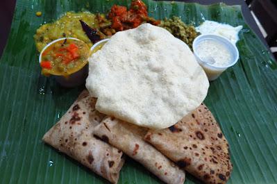 Komala Vilas, chapati meal