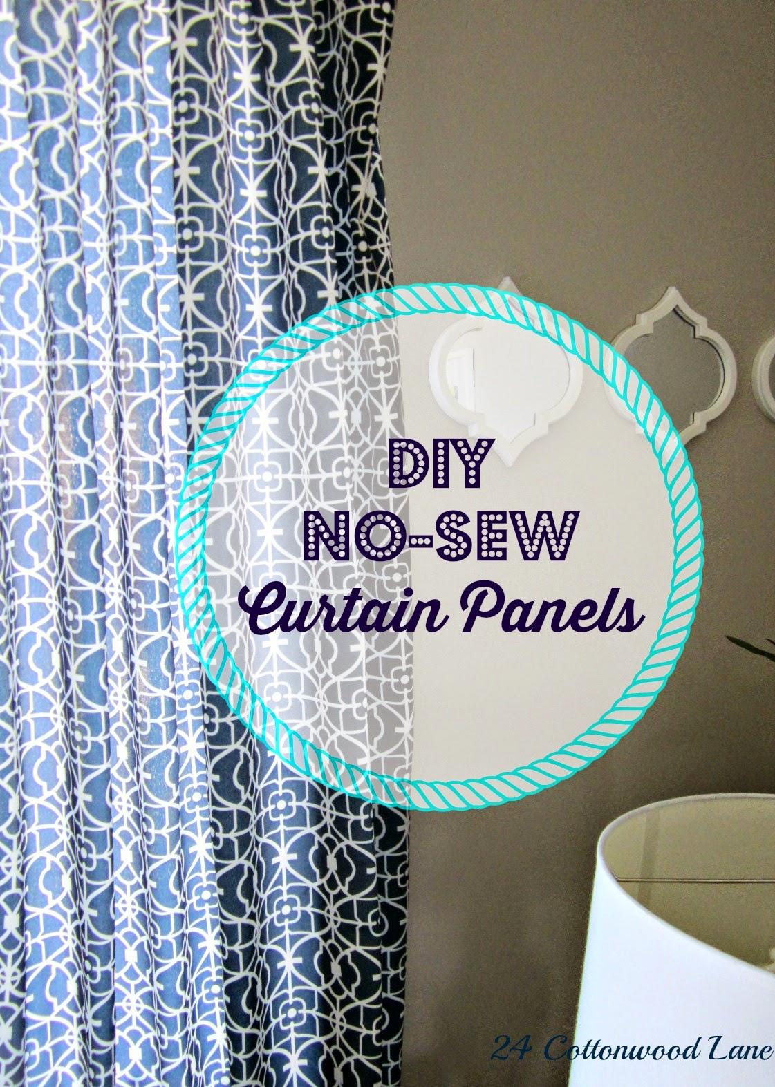 Diy No Sew Curtains Diy No Sew Curtain Panels