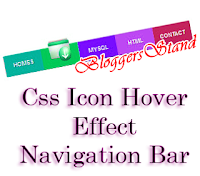 CSS hover Effect Navigation Menu bar