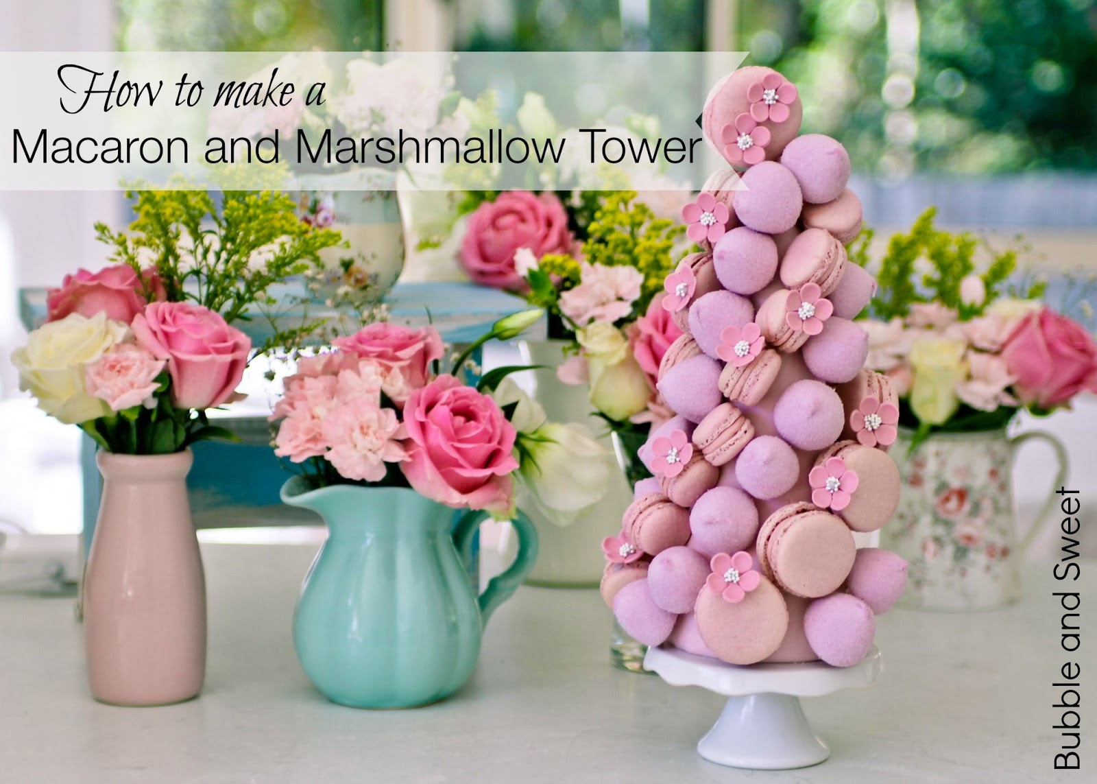 ... Sweet: Sweet Dreams are made of Pink - Macaron and Marshmallow Tower