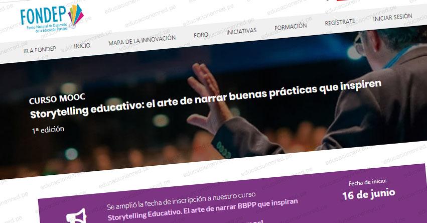 FONDEP organiza curso gratuito de Storytelling Educativo para docentes - www.fondep.gob.pe