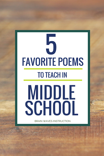 I'm share my all time favorite poems to teach in the middle school classroom.  You'll find a collection of inspirational, clever, and funny poems that will have your middle school students loving poetry.