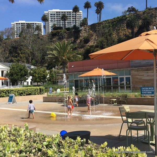 splash pad at Annenberg Community Beach House in Santa Monica, California