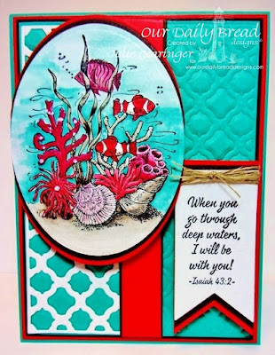 Our Daily Bread Designs, Deep Waters, Boho Background die, ovals die, pennants die, Designed by Julie Gearinger