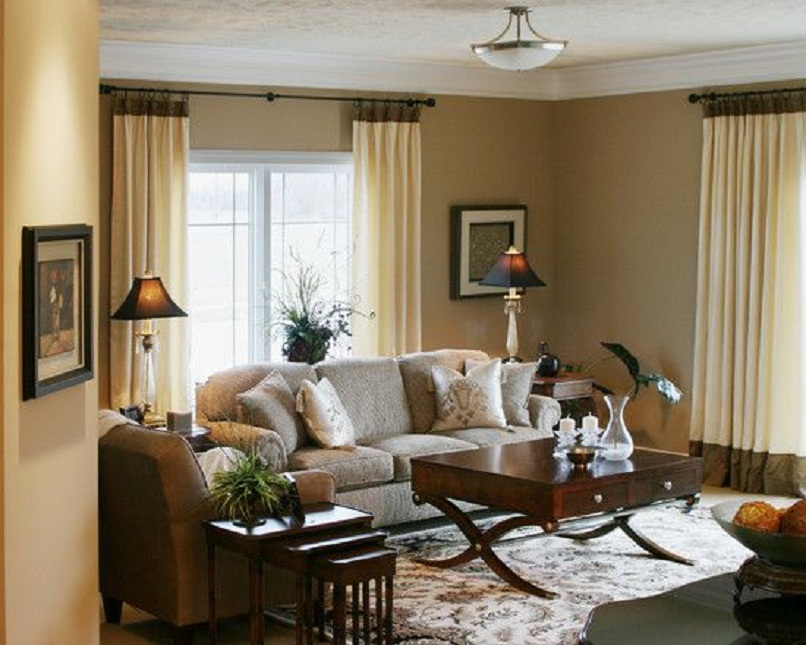 Elegant iving Room Curtain Ideas