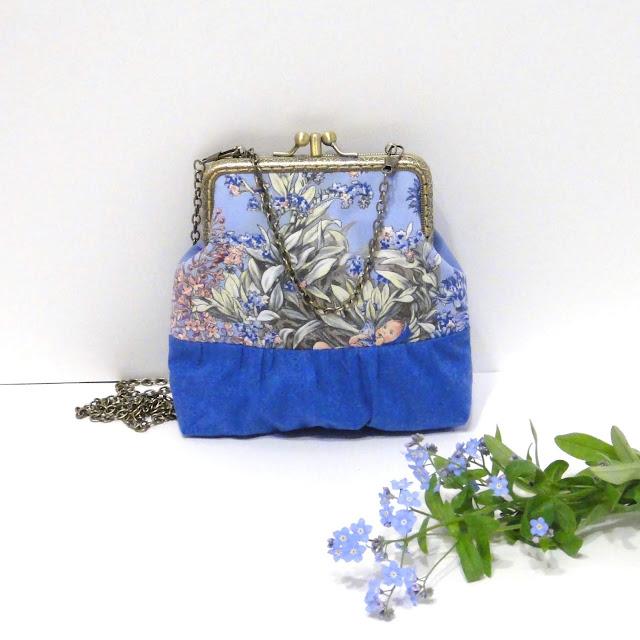 Сумка на цепочке 120 см - маленькая сумочка для девушки. Фея Незабудка Сесилии Мари Баркер