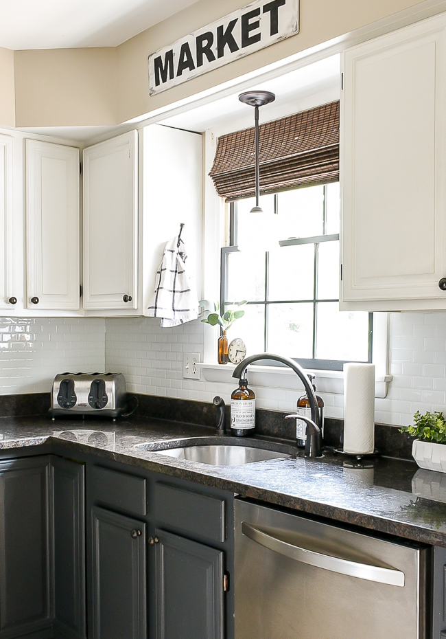 How Are They Holding Up Smart Tile Backsplash Review Little House Of Four Creating A Beautiful Home One Thrifty Project At A Time How Are They Holding Up Smart Tile