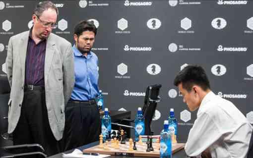 Le Chinois Ding Liren bat l'Israélien Boris Gelfand dans l'ultime ronde du tournoi d'échecs de Moscou - Photo © Max Avdeev