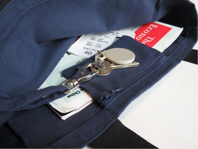 DIY in-flight bag canvas sewing key clip clasp