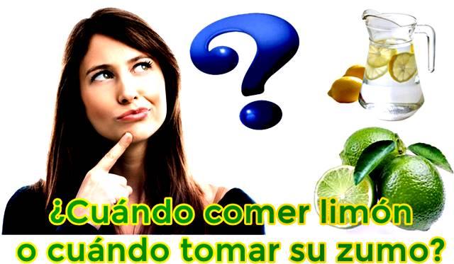 ¿Cuándo comer y tomar zumo de limón?