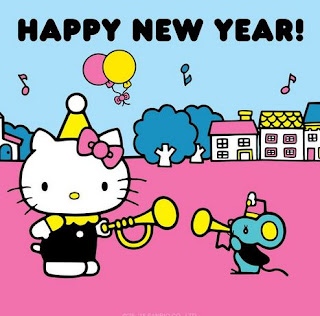Gambar Hello Kitty Terbaru Happy New Year Selamat Tahun Baru Wallpaper HD