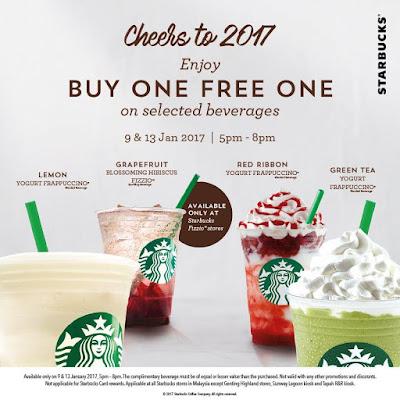 Starbucks Malaysia Beverage Buy One Free One Promo