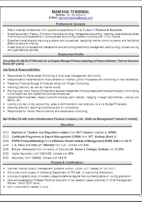 exle cv for students free