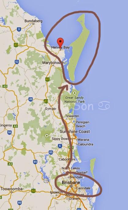 Carte Fraser Island, Queensland, Australie