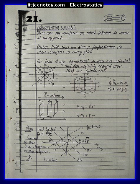 Electrostatics Notes IITJEE6