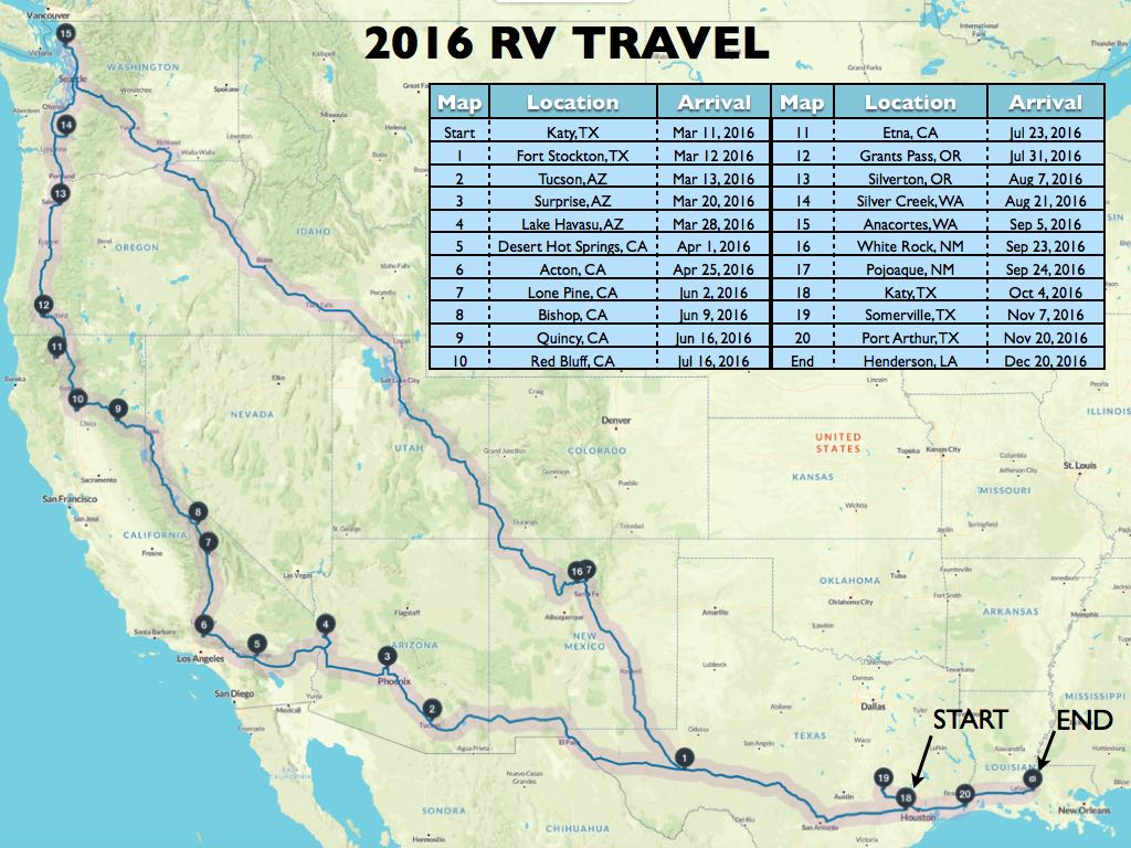 Travel Map 2016