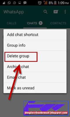 cara delet grup WA