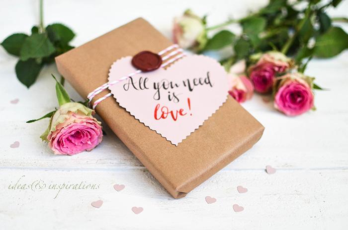 Verpack Dein Geschenk besonders Schön für den Valentinstag