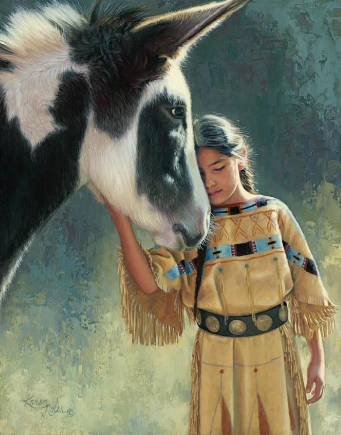 Картины об индейцах. Karen Noles 15
