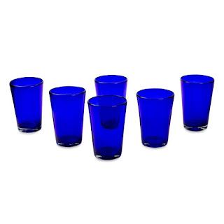 everyday blue water glasses