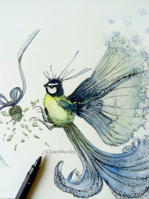 Art blog : watercolour bird painting. Wildlife Art and Illustrations.