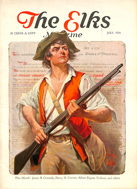 Cover by Paul Stahr for The Elks magazine 1924 July