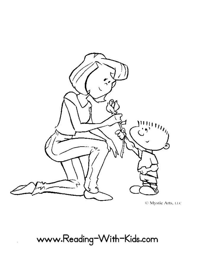 Beauty Auto: i love you mom coloring pages