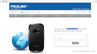 Change Prolink PRT7001H Web UI Configuration Page Password