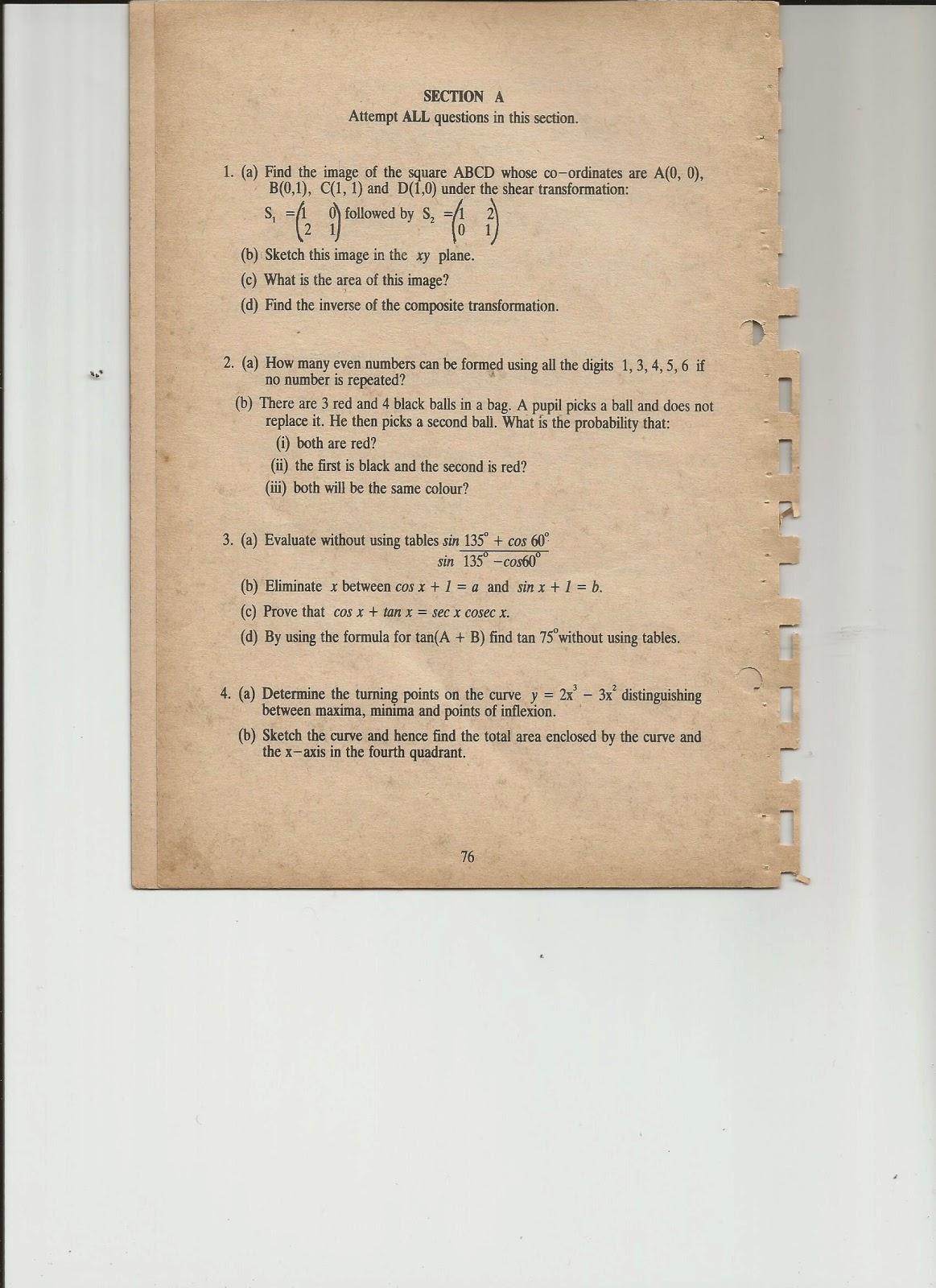 MWL JAPHET MASATU BLOG: ADDITIONAL MATHEMATICS -----PAPER 1