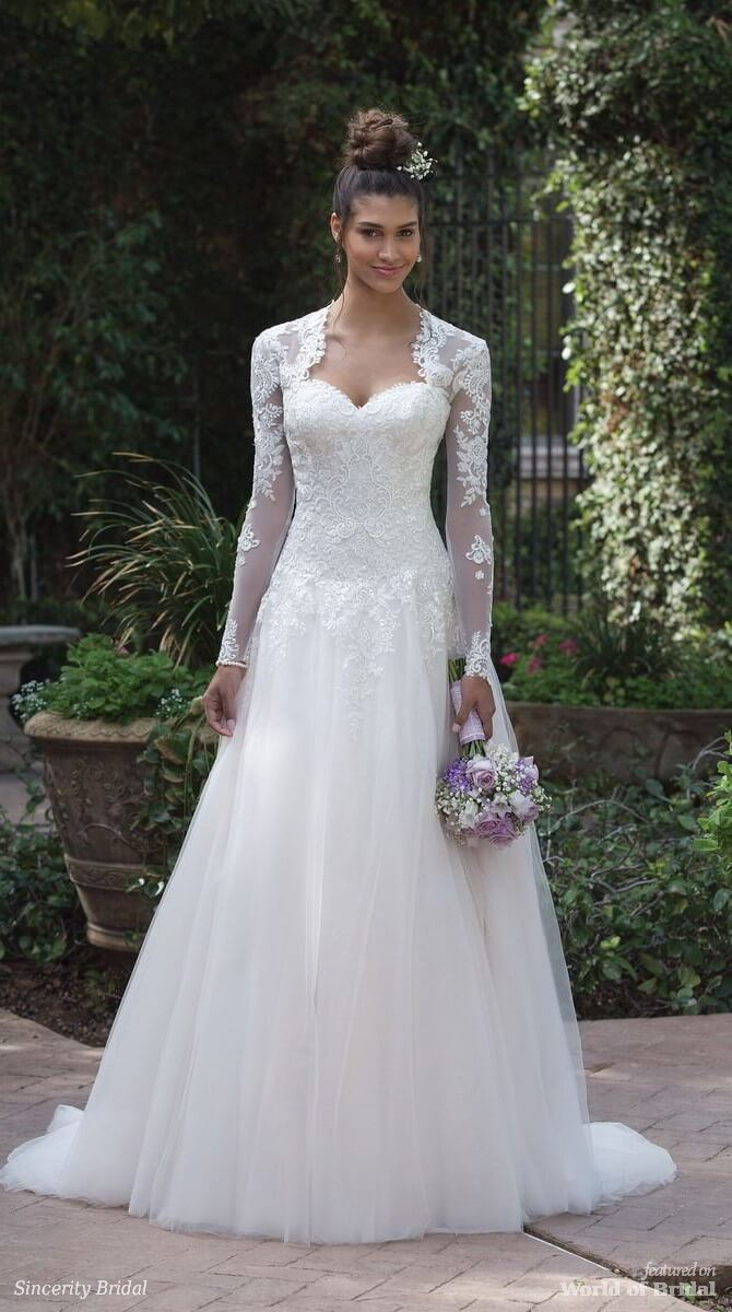 Sincerity Bridal Spring 2018 Beaded and Embroidered Lace Ball Gown with Bolero Jacket