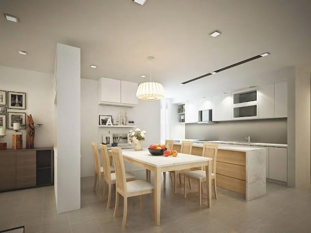Không gian bếp căn hộ Lilaha Complex
